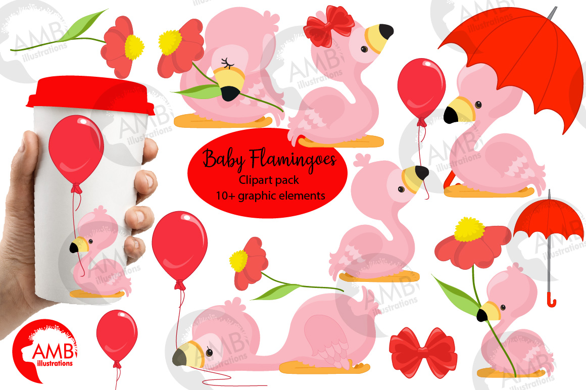 Download Free Baby Flamingos Fun Clipart Graphic By Ambillustrations for Cricut Explore, Silhouette and other cutting machines.