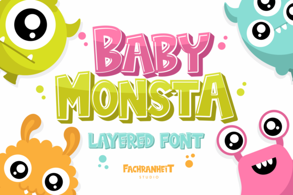 Print on Demand: Baby Monsta Display Font By fachranheit - Image 1