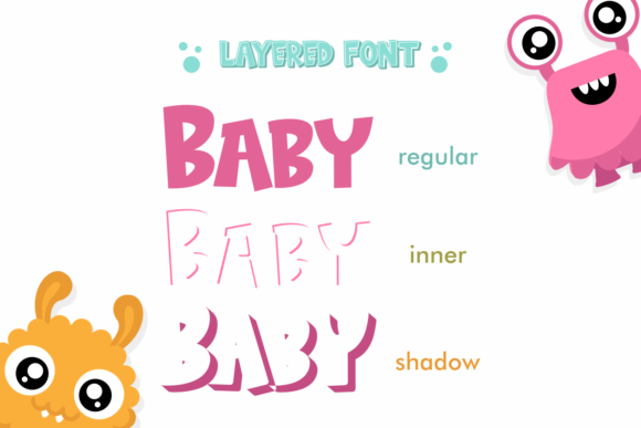 Print on Demand: Baby Monsta Display Font By fachranheit - Image 2