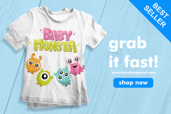 Print on Demand: Baby Monsta Display Font By fachranheit - Image 5