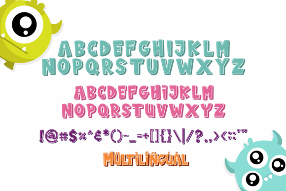 Print on Demand: Baby Monsta Display Font By fachranheit - Image 9