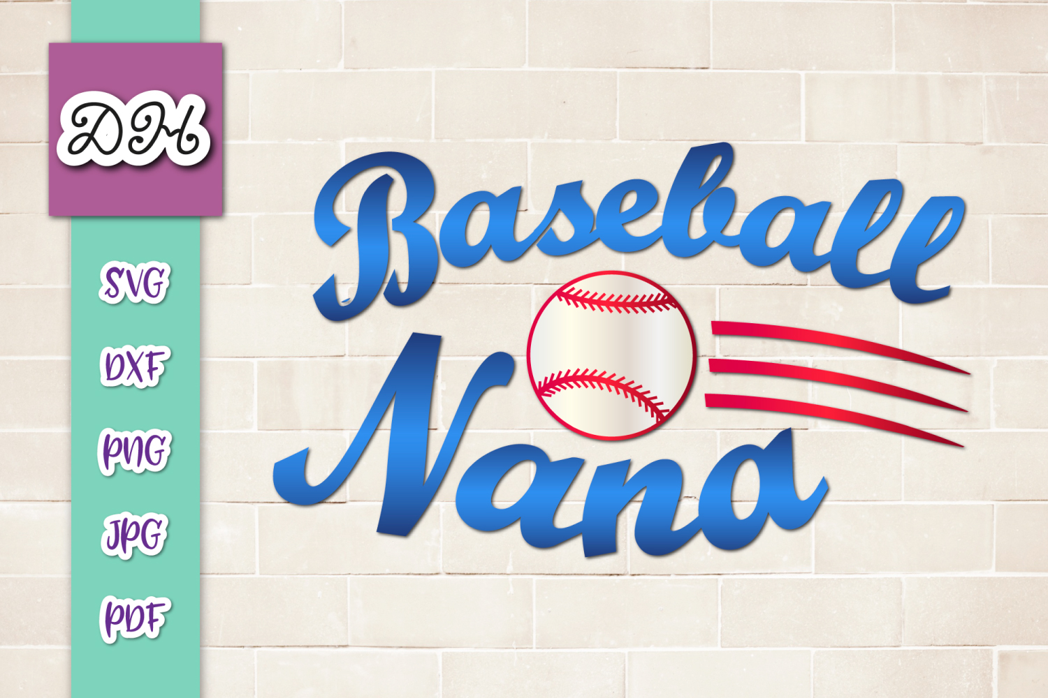 Download Free Baseball Nana Player Family Sublimation Graphic By Digitals By for Cricut Explore, Silhouette and other cutting machines.