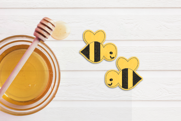 Bee Feltie ITH in the Hoop Applique Insekten & Käfer Stickdesign von DesignedByGeeks