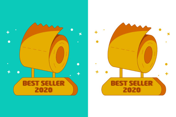 Print on Demand: Best Seller 2020 - Toilet Paper Trophy Graphic Icons By MikeToon Studio