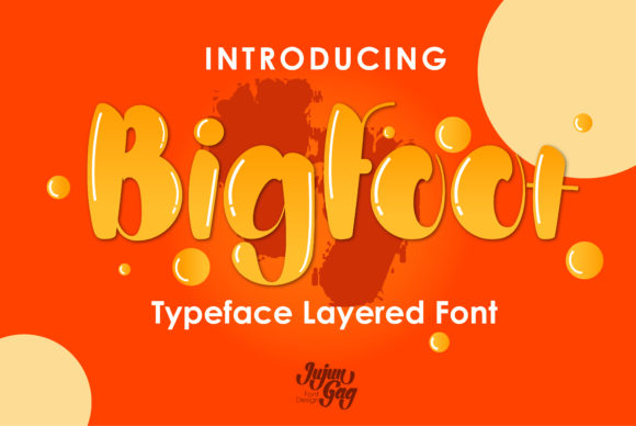 Print on Demand: Bigfoot Display Font By Gens Creatif Store