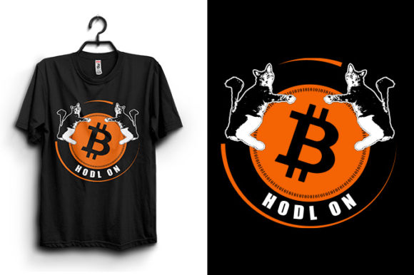 Bitcoin T-shirt/Mug Design Graphic Print Templates By Storm Brain