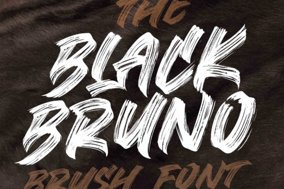 Print on Demand: Black Bruno Display Font By Subectype