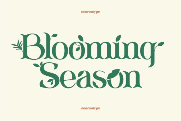 Print on Demand: Blooming Season Display Font By neurontype