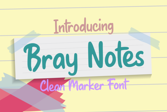 Print on Demand: Bray Notes Script & Handwritten Font By brithostype