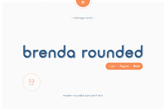 Print on Demand: Brenda Rounded Sans Serif Font By collectype