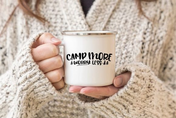 Print on Demand: Camp More Worry Less Graphic Crafts By Simply Cut Co