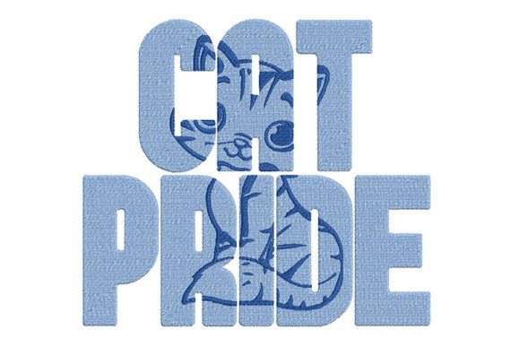 Print on Demand: Cat Pride Cats Embroidery Design By Embroidery Shelter - Image 2