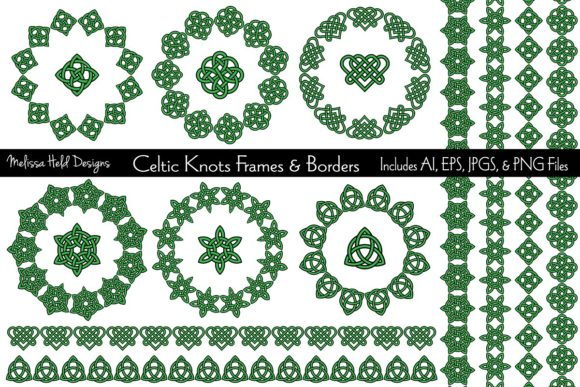 Celtic Frames and Borders Graphic Patterns By Melissa Held Designs