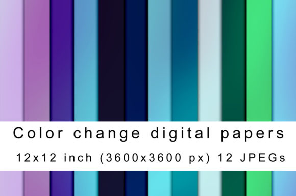 Print on Demand: Color Change 1 Graphic Backgrounds By Andrea Kostelic