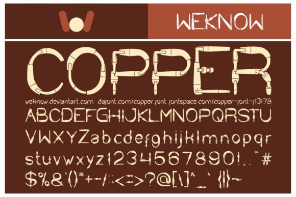 Download Free Copper Font By Weknow Creative Fabrica for Cricut Explore, Silhouette and other cutting machines.