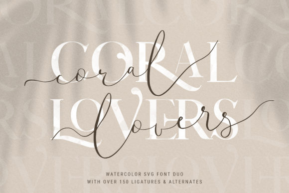 Print on Demand: Coral Lovers Duo Script & Handwritten Font By SilverStag