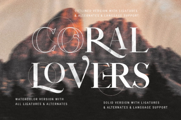 Print on Demand: Coral Lovers Duo Script & Handwritten Font By SilverStag - Image 4