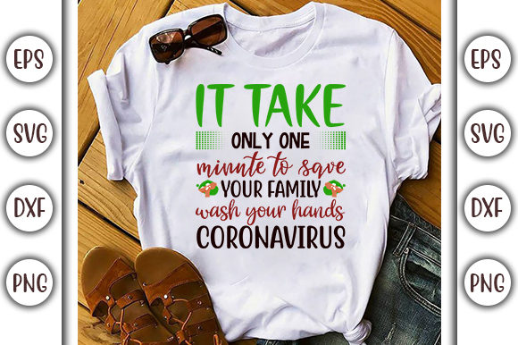 Print on Demand: Coronavirus  Design, It Take Only One Graphic Print Templates By GraphicsBooth