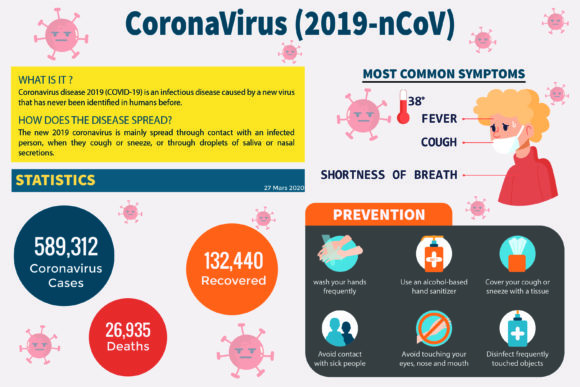 Coronavirus Infographic Sensibilisation Graphic Infographics By Crafty Files