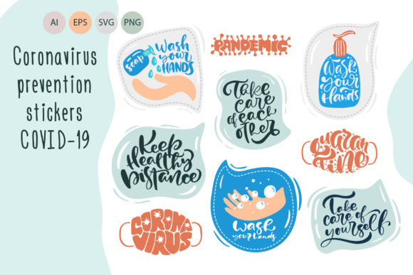 Coronavirus Prevention Stickers Graphic Objects By Happy Letters