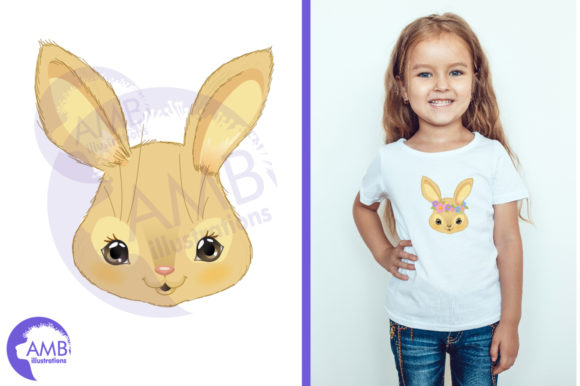 Download Free Cute Bunnies Emojis Clipart Graphic By Ambillustrations for Cricut Explore, Silhouette and other cutting machines.