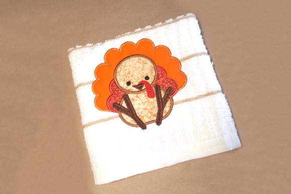Cute Thanksgiving Turkey Applique Thanksgiving Embroidery Design By DesignedByGeeks
