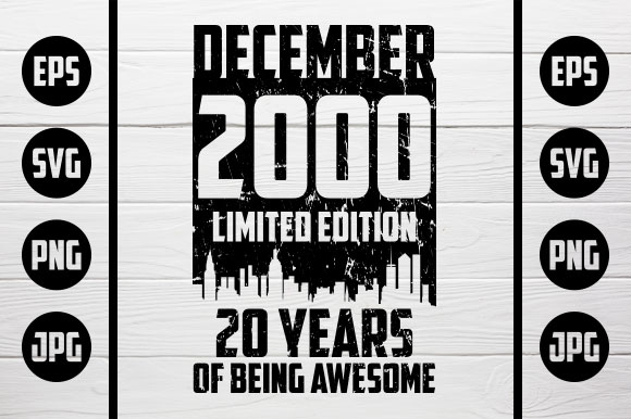 Download Free December 2000 Tshirt Design Graphic By Zaibbb Creative Fabrica for Cricut Explore, Silhouette and other cutting machines.