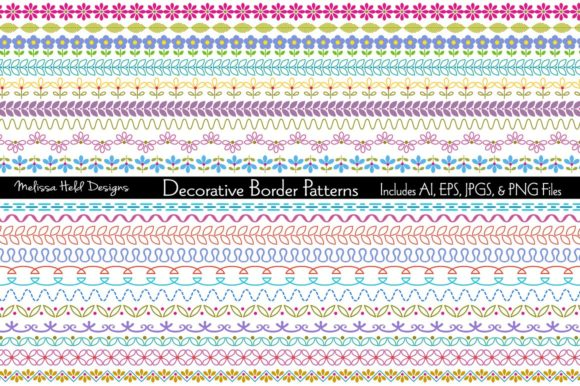 Decorative Border Patterns Graphic Patterns By Melissa Held Designs