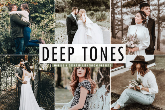 Print on Demand: Deep Tones Pro Lightroom Presets Graphic Actions & Presets By Creative Tacos - Image 1
