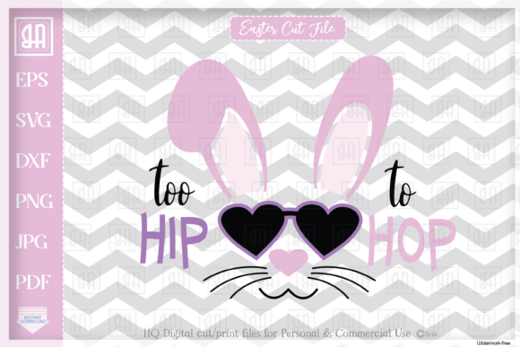Download Free Easter Bunny Girl Cool Bunny Girl S Graphic By Blueberry Hill SVG Cut Files