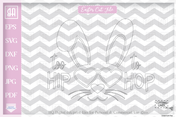 Download Free Easter Bunny Girl Cool Bunny Girl S Graphic By Blueberry Hill for Cricut Explore, Silhouette and other cutting machines.