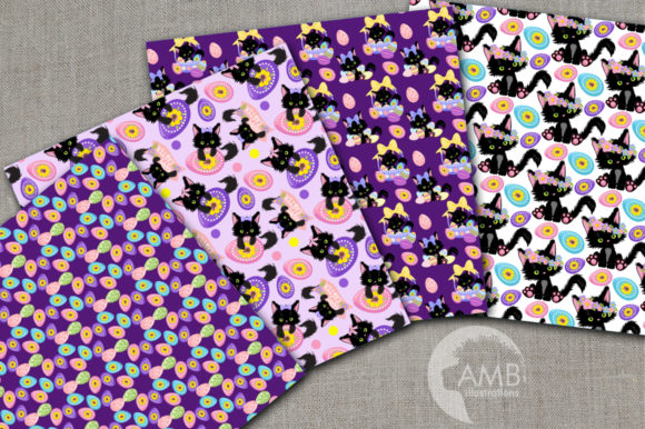 Download Free Easter Cats Patterns Graphic By Ambillustrations Creative Fabrica SVG Cut Files