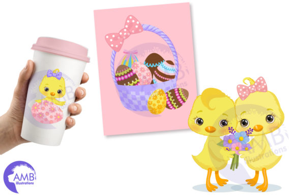 Download Free Easter Chicks Clipart Pack 2 Graphic By Ambillustrations for Cricut Explore, Silhouette and other cutting machines.