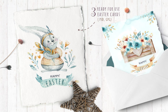 Easter Cute Bunny II Watercolor Set Graphic Illustrations By kristinakvilis - Image 7