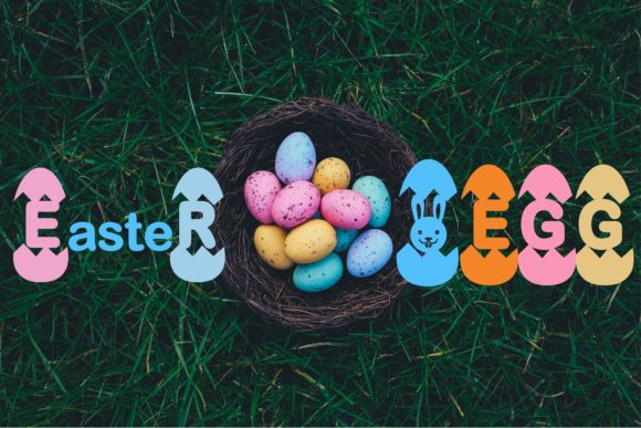 Print on Demand: Easter Egg Display Font By KtwoP