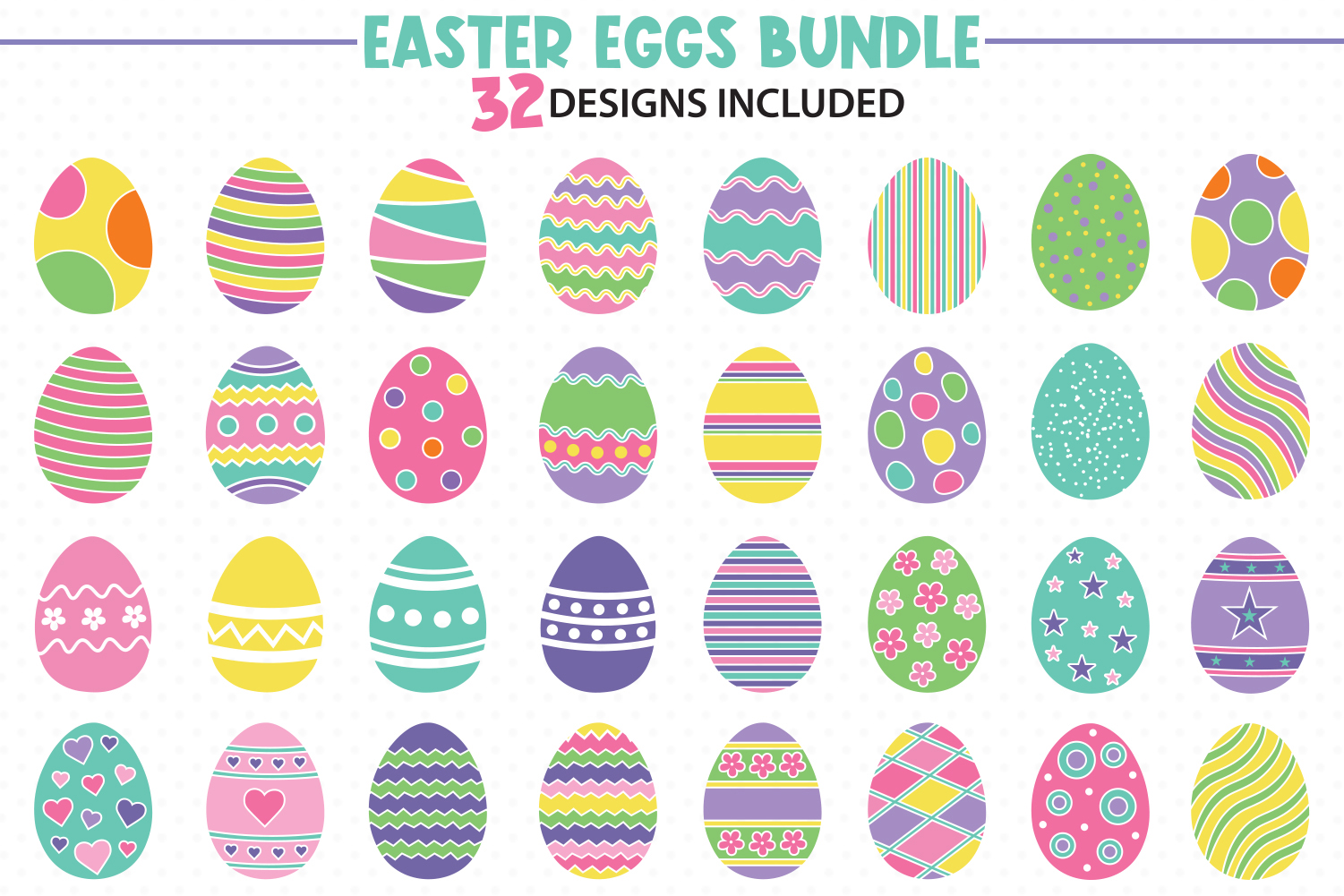 Download Free Easter Eggs Bundle Graphic By All About Svg Creative Fabrica SVG Cut Files