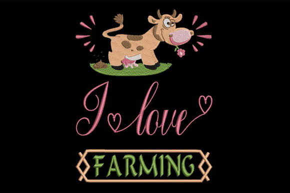 Print on Demand: Farmers Quote Farm & Country Embroidery Design By Embroidery Shelter - Image 1