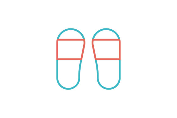 Download Free Flip Flop Icon Grafik Von Flatdesigntheory Creative Fabrica for Cricut Explore, Silhouette and other cutting machines.