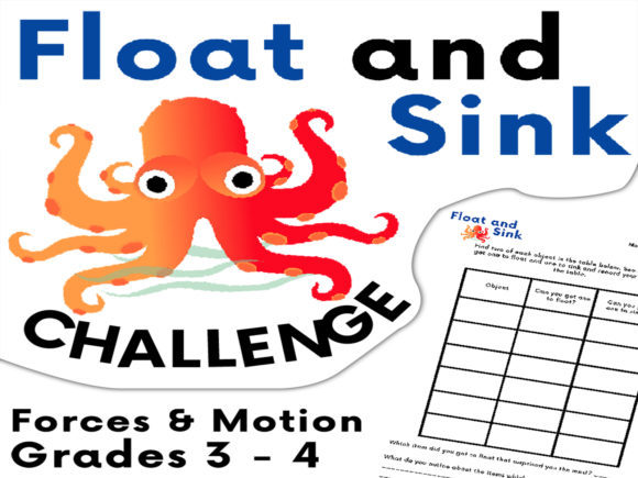 Floating and Sinking Outdoor Challenge Graphic 3rd grade By Saving The Teachers - Image 1