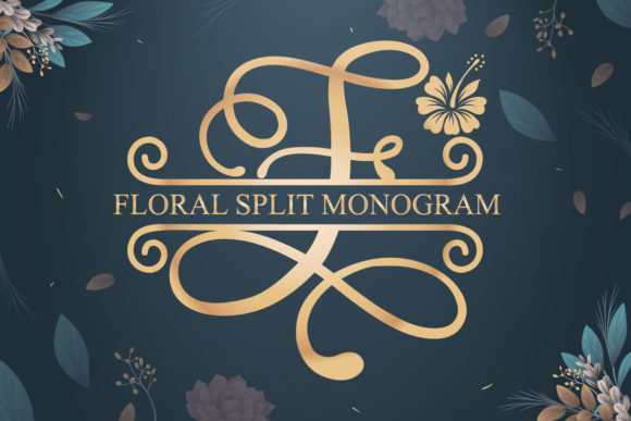 Print on Demand: Floral Split Display Font By Almeera Studio - Image 1