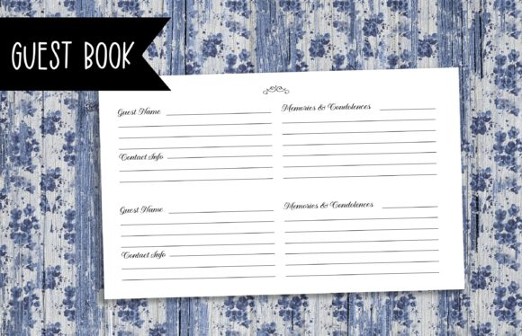 Print on Demand: Funeral Guest Book | KDP Template Graphic Print Templates By planfantastic