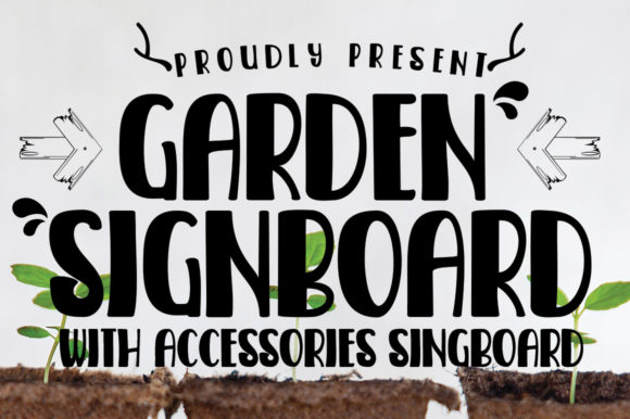 Print on Demand: Garden Signboard Script & Handwritten Font By edwar.sp111