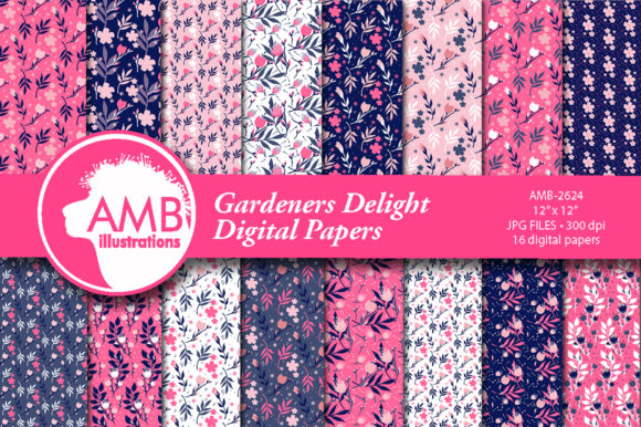 Gardeners Delight Patterns Graphic Patterns By AMBillustrations