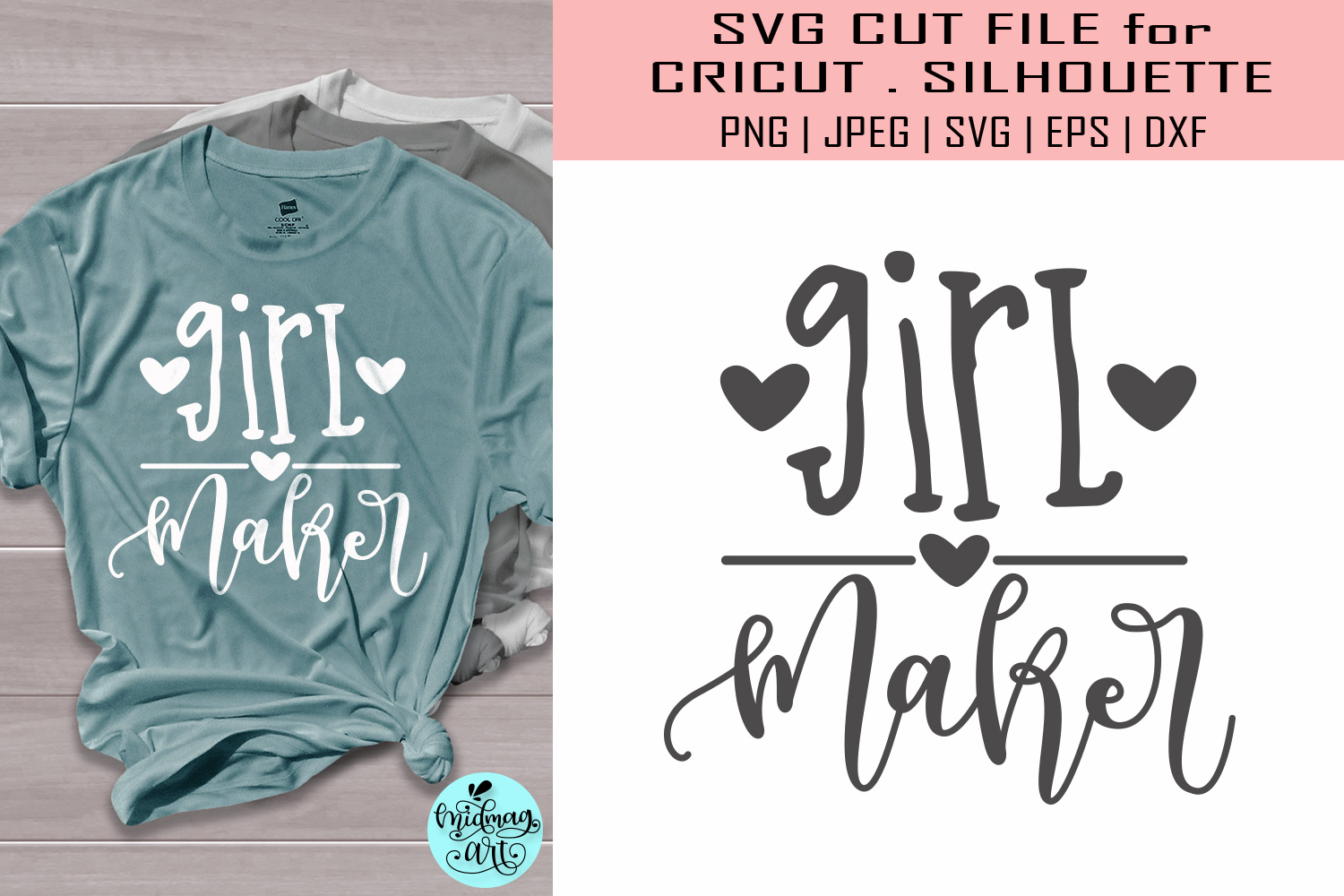 Download Free Girl Maker Mom Life Graphic By Midmagart Creative Fabrica SVG Cut Files