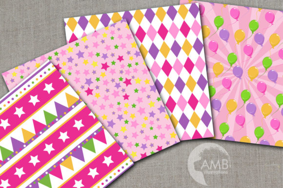Girly Circus Patterns Graphic By Ambillustrations Creative Fabrica