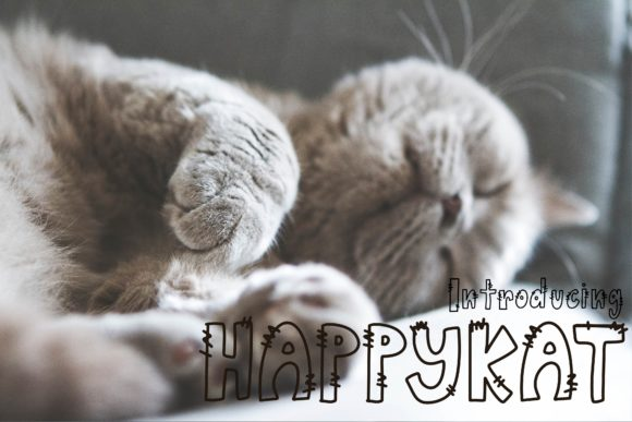 Print on Demand: Happykat Display Font By KtwoP