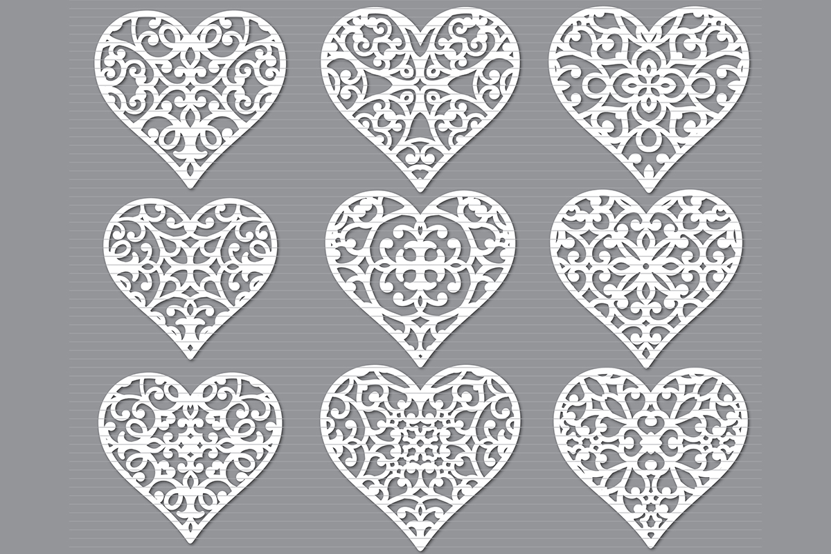 Download Free Heart Graphic By Meshaarts Creative Fabrica for Cricut Explore, Silhouette and other cutting machines.