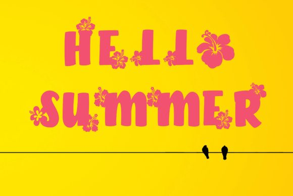 Print on Demand: Hello Summer Display Font By KtwoP