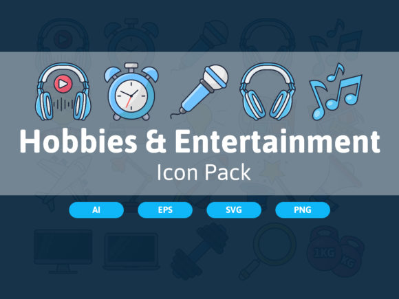Download Free Hobbies Ebtertainment Icon Pack Graphic By Bayu Febrianto for Cricut Explore, Silhouette and other cutting machines.