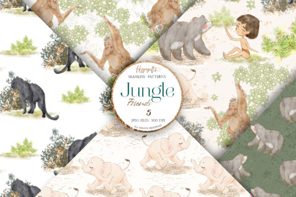 Jungle Patterns,woodland Patterns Grafik Muster von Hippogifts